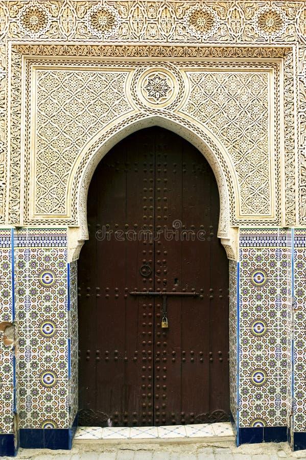 Architektoniczny szczegół w Marrakesh zdjęcia stock