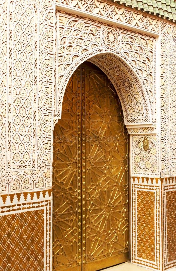 Architektoniczny szczegół w Marrakesh obrazy royalty free