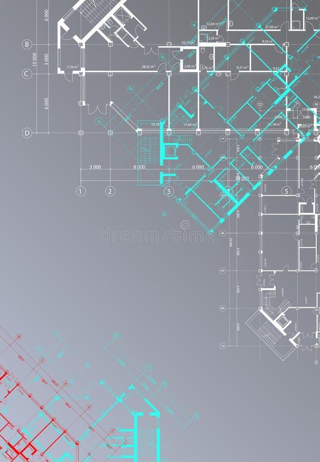 architektoniczny tła szarość wektoru vertical royalty ilustracja