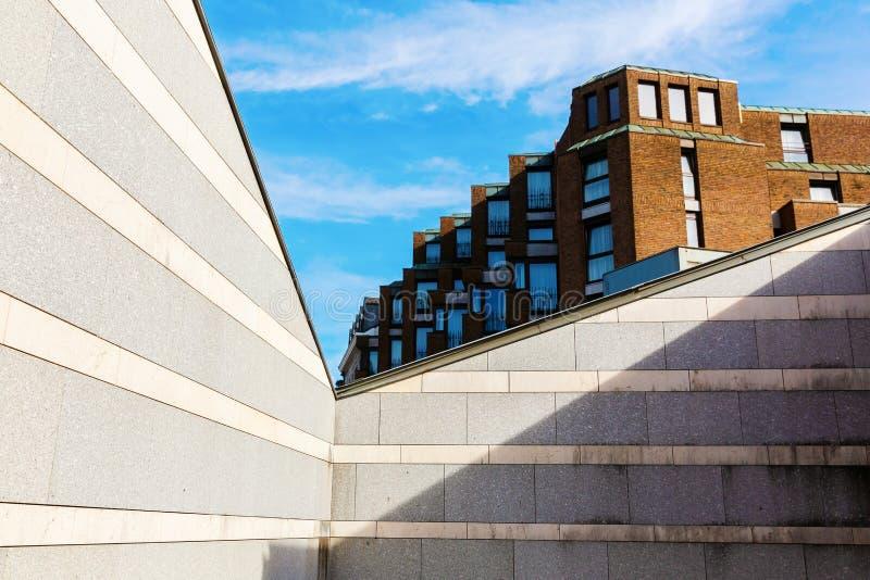 Architektoniczny widok w mieście Aachen, Niemcy zdjęcie royalty free
