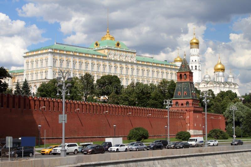 Architektoniczny zespół Moskwa Kremlin fotografia stock