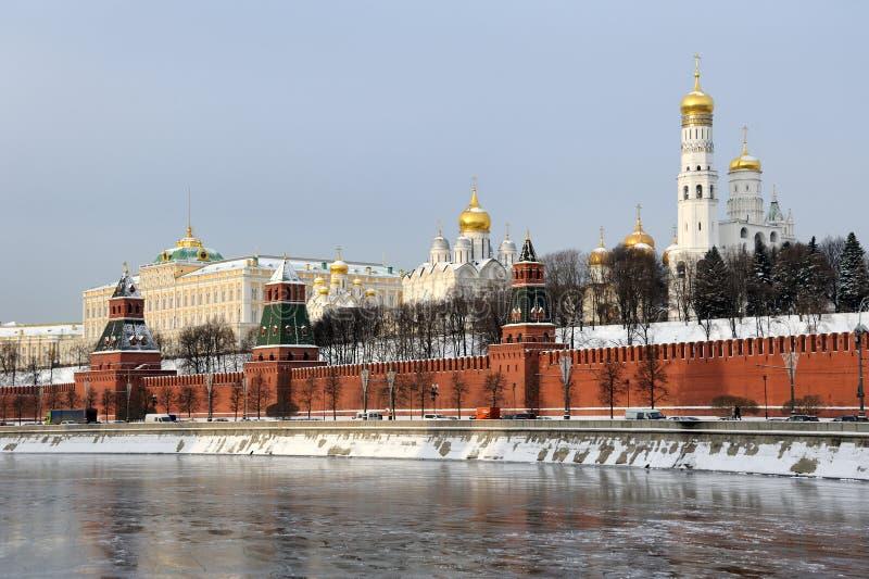 Architektoniczny zespół Moskwa Kremlin zdjęcie stock
