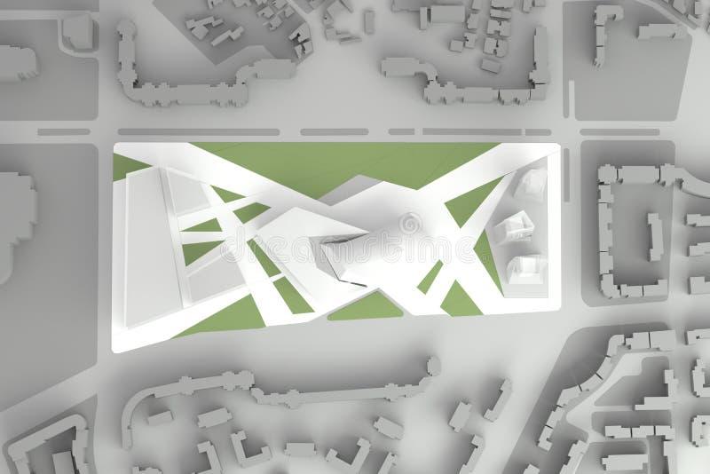 Architektonisches vorbildliches Of Downtown Financial-Stadtzentrum vektor abbildung
