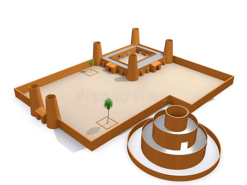 Architektur 3d lizenzfreies stockfoto