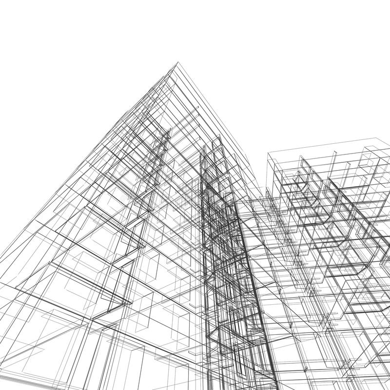 Architektur stock abbildung