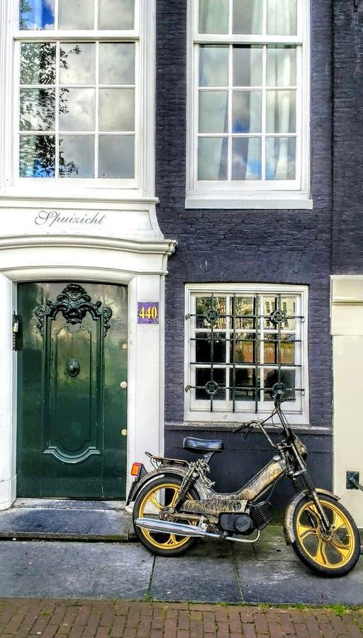 Old motor. Architektur Amsterdam city travel royalty free stock photography