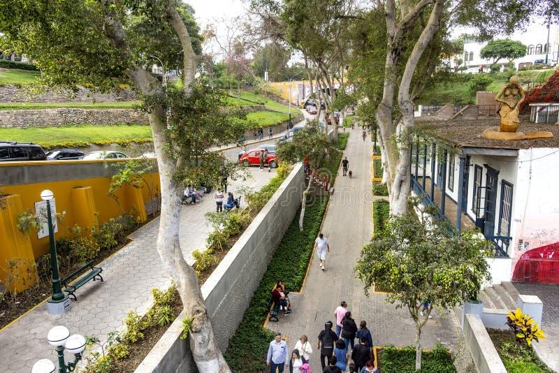 Architektur in Barranco, Lima, Peru lizenzfreie stockfotografie