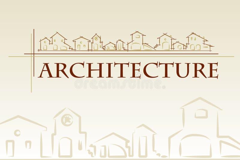 Architektur - Bauunternehmen. lizenzfreie abbildung