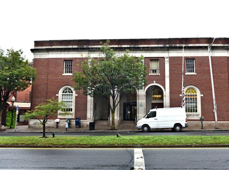 Architektur Danbury-Stadtconnecticuts USA historisch stockbild