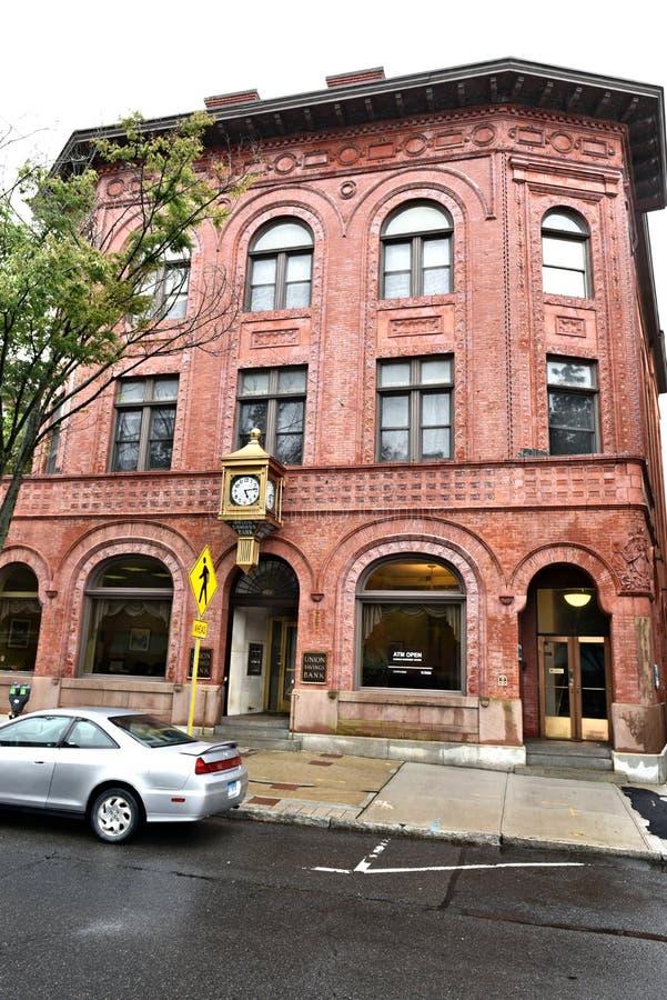 Architektur Danbury-Stadtconnecticuts USA historisch lizenzfreie stockfotografie