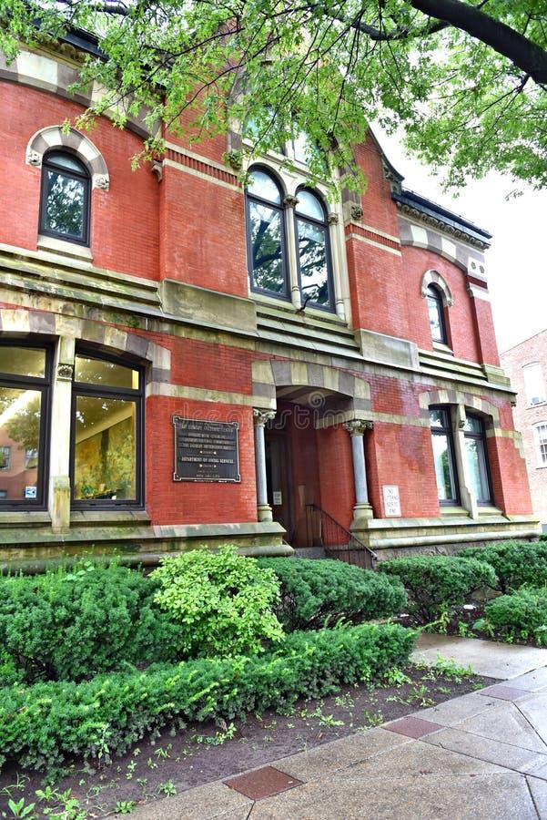 Architektur Danbury-Stadtconnecticuts USA historisch lizenzfreies stockfoto
