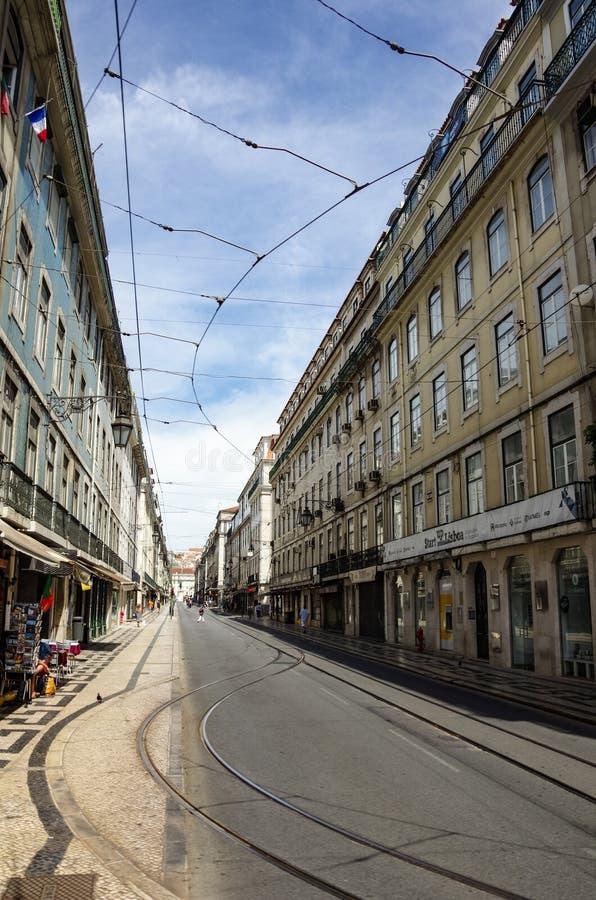 Architektur in der alten Stadt von Lissabon, Portugal lizenzfreies stockfoto