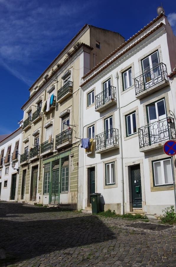 Architektur in der alten Stadt von Lissabon, Portugal stockbilder