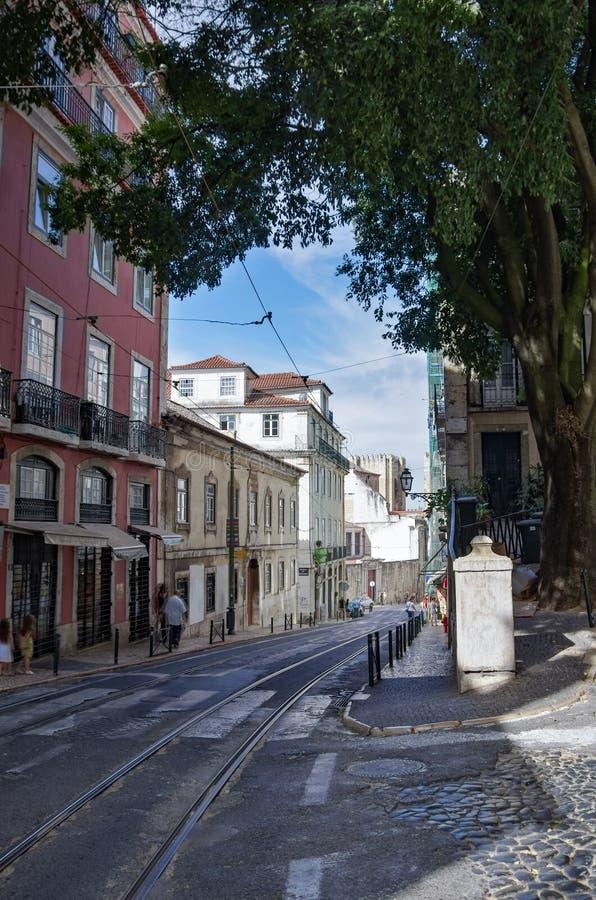 Architektur in der alten Stadt von Lissabon, Portugal stockfotos
