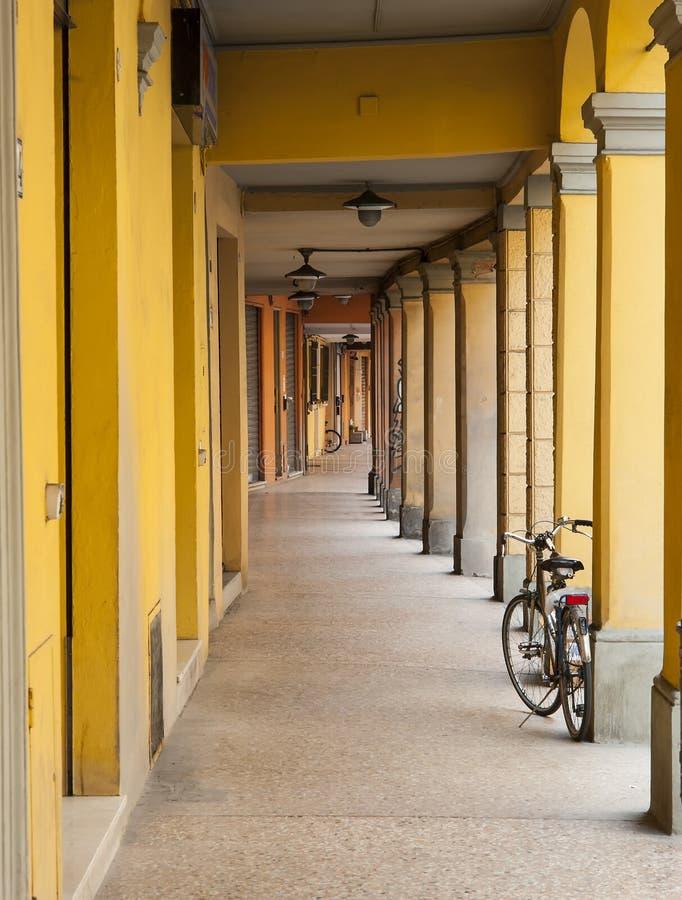 Architektur in der italienischen Stadt von Bologna stockfoto