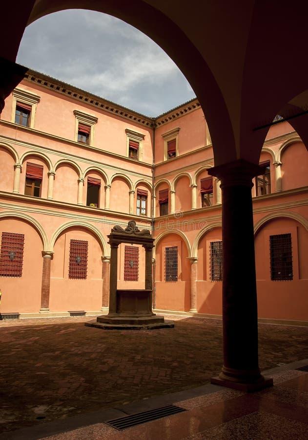Architektur in der italienischen Stadt von Bologna stockfotografie