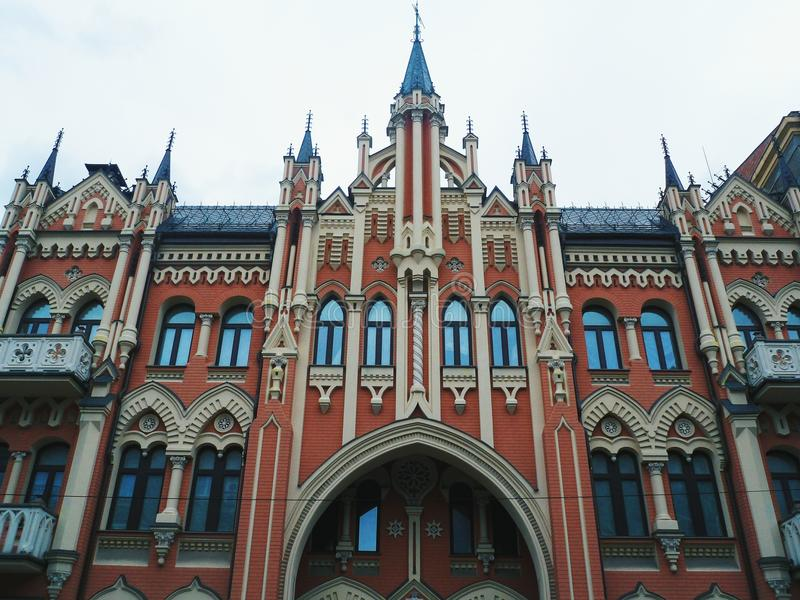 Architektur der Stadt Kiew, Ukraine lizenzfreies stockbild