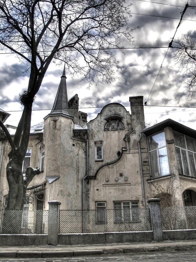 Architektur der Stadt von Lvov stockfoto