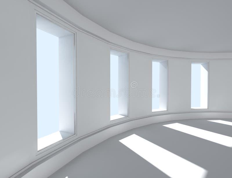 Architektur des Innenraums 3d stock abbildung