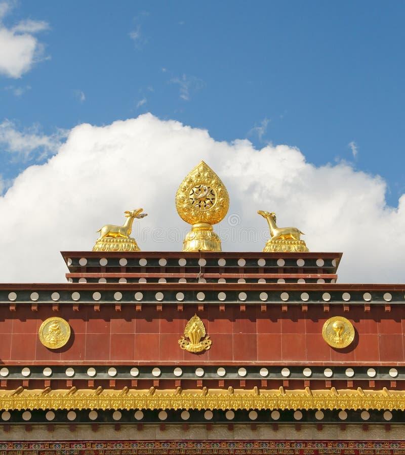 Architektur des songzanlin Tibetanerklosters stockbild