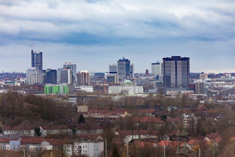 Architektur des Stadtzentrums Essens NRW Deutschland lizenzfreie stockfotografie