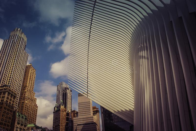 Architektur des World Trade Center Oculusï-¼ Œ NewYorkYork lizenzfreies stockbild