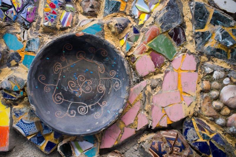 Architektur führt Mosaik einzeln auf stockfotos
