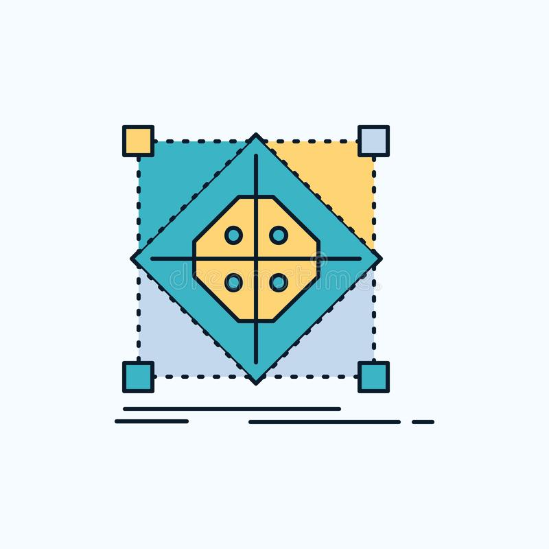 Architektur, Gruppe, Gitter, Modell, Vorbereitung flache Ikone r vektor abbildung