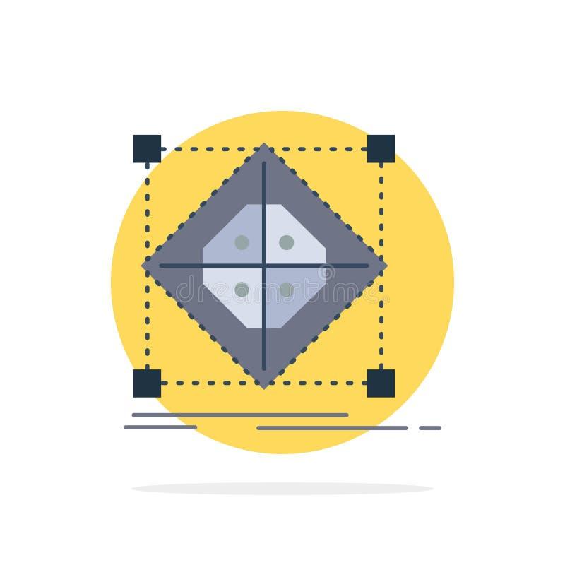 Architektur, Gruppe, Gitter, Modell, Vorbereitung flacher Farbikonen-Vektor vektor abbildung