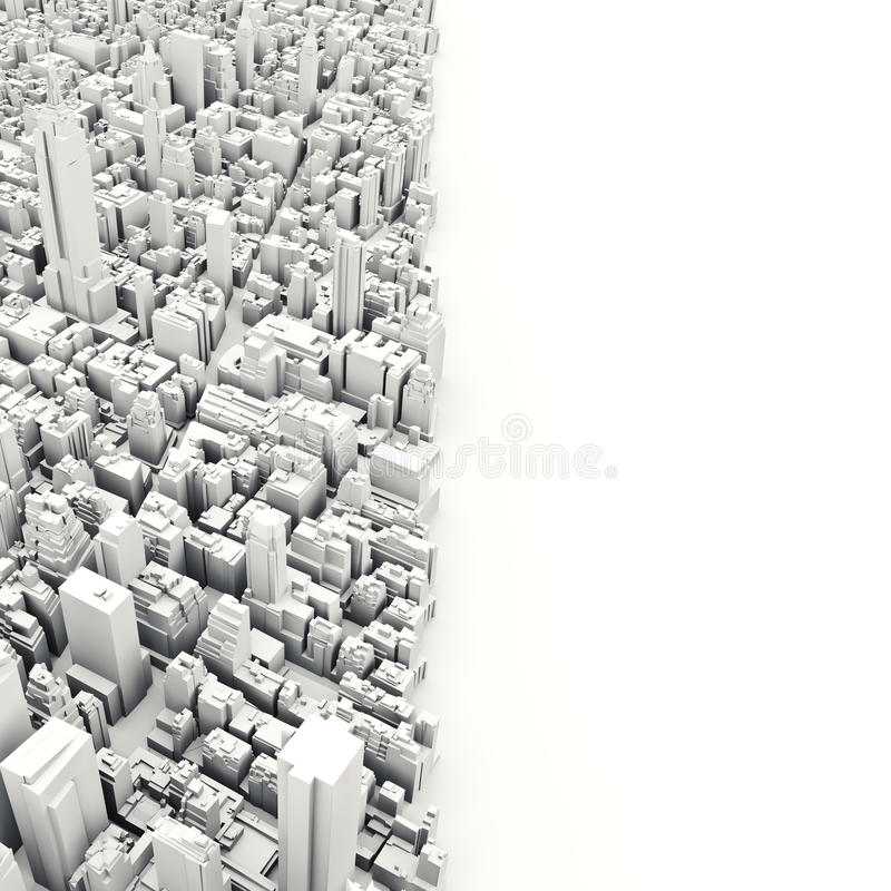 Architektur-Illustration des Modells 3D von einer Großstadt vektor abbildung