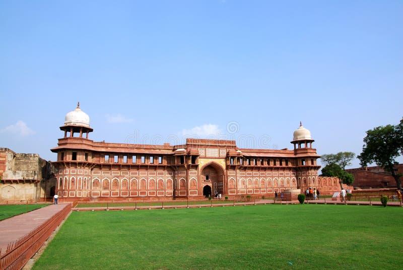 Architektur im Agra-Fort von Indien stockbild
