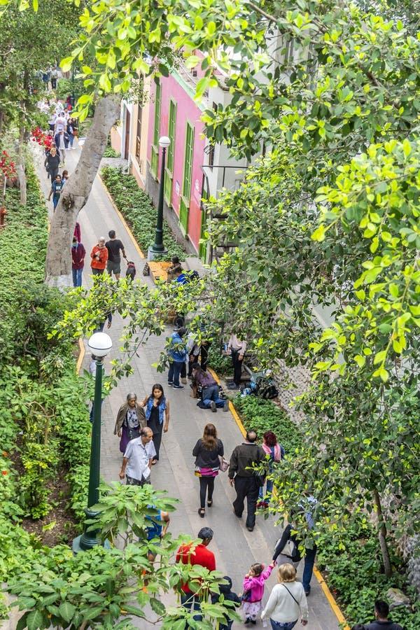 Architektur im Viertel Barranco Lima, Peru stockfoto
