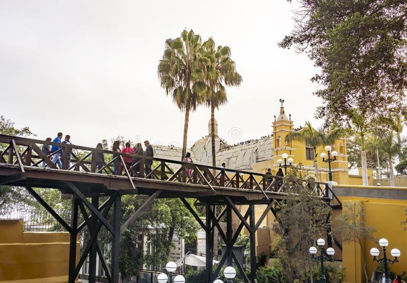 Architektur im Viertel Barranco Suspiros-Brücke Lima, Peru lizenzfreie stockbilder