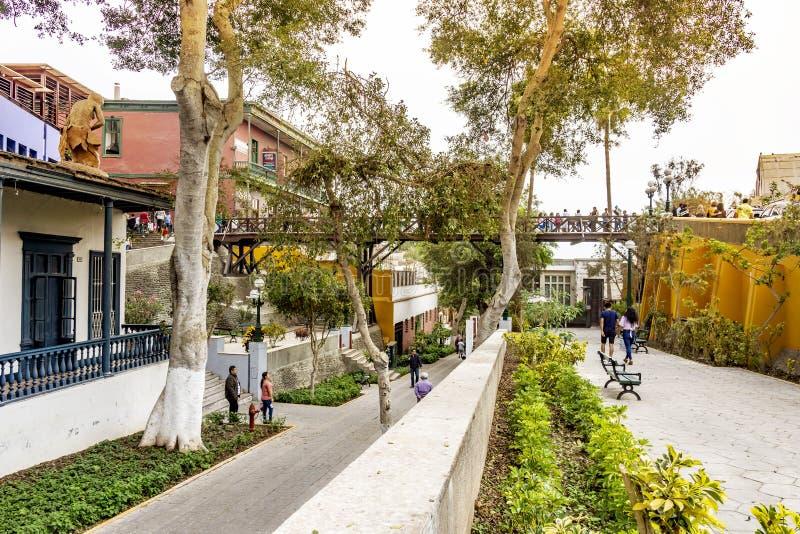 Architektur im Viertel Barranco Suspiros-Brücke Lima, Peru stockfoto