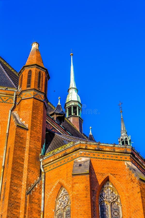 Architektur in Legnica polen stockfotos