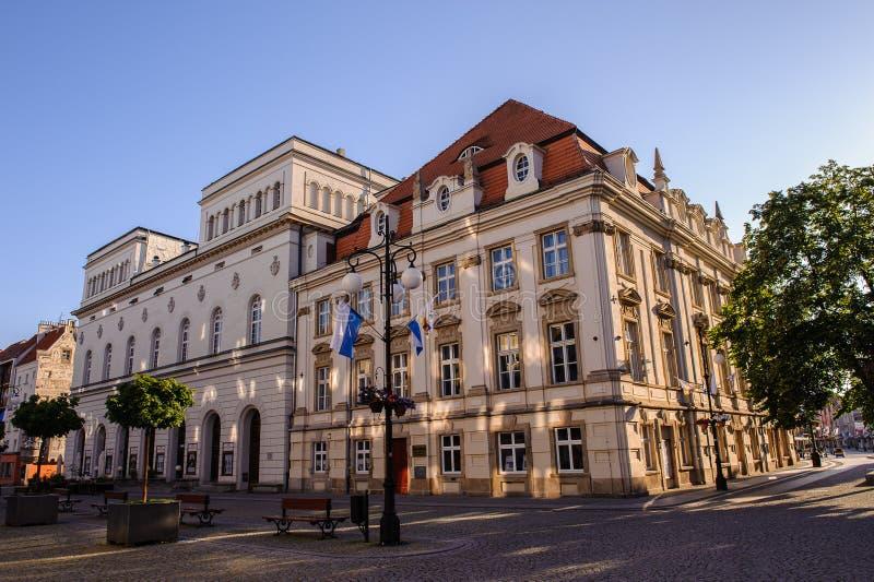 Architektur in Legnica polen stockbild