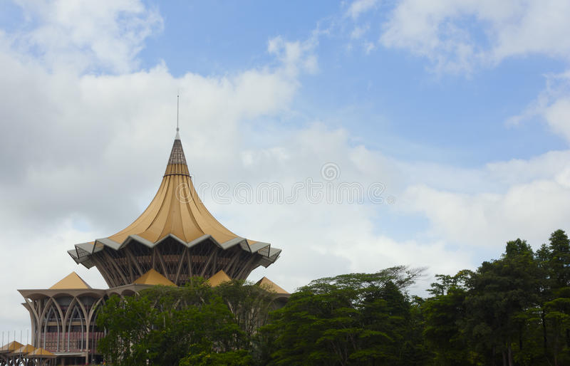 Architektur- Markstein in Kuching, Sarawak, Ost-Malaysia lizenzfreie stockfotografie