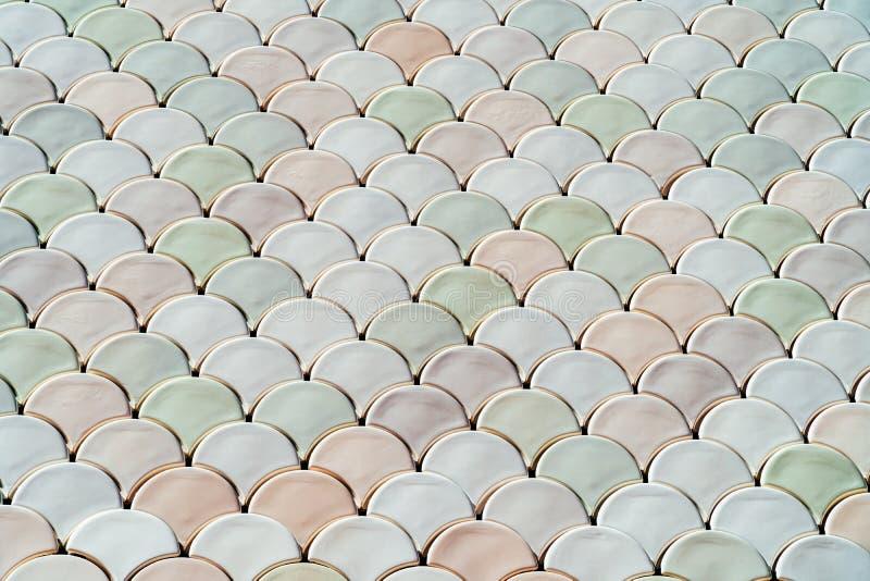 Architektur-Mesh Detail With Fish Scales-Beschaffenheit stockbild