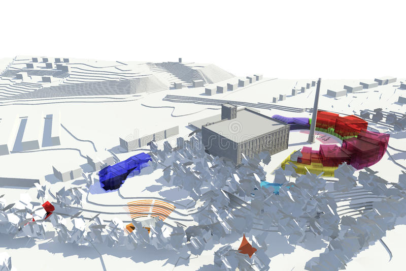 Architektur-Modell stock abbildung