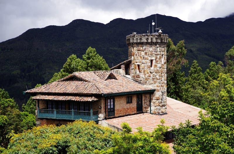 Architektur in Montserrate, einer der Marksteine von Bogota stockfotos