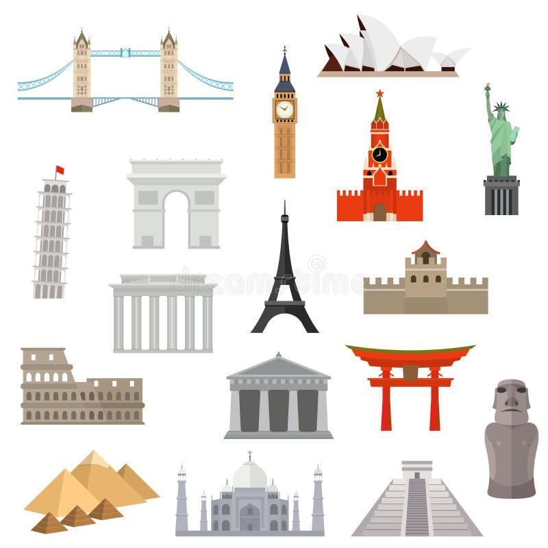 Architektur-, Monument- oder Marksteinikone lizenzfreie abbildung