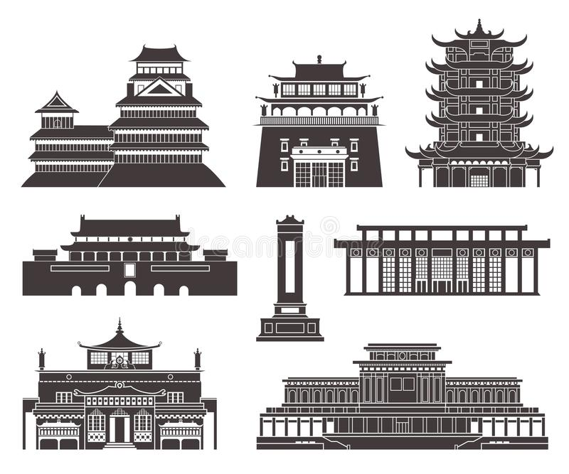 Architektur Ostasien vektor abbildung
