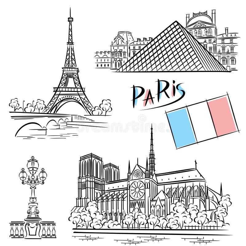 Architektur Paris lizenzfreie abbildung