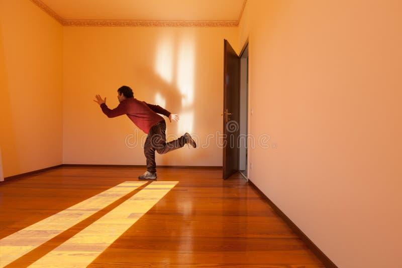 Architektur, Raum mit Mann Konzept lizenzfreies stockbild