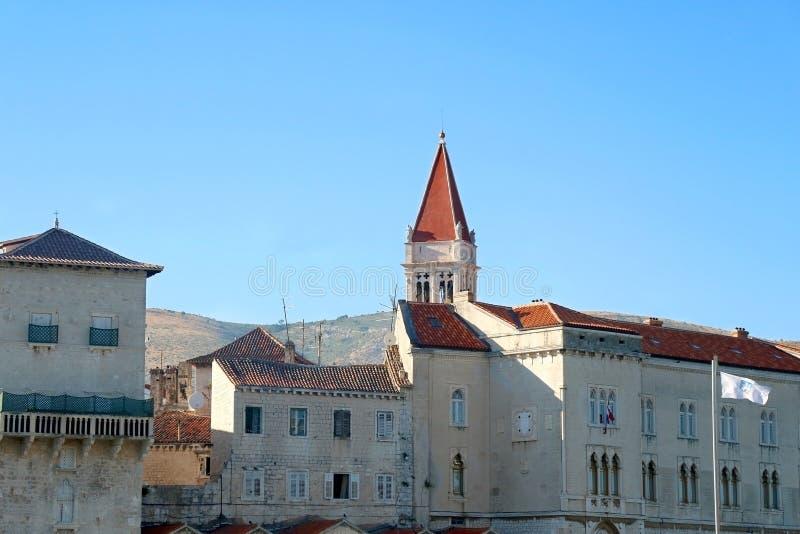 Architektur in Trogir, Kroatien stockbild