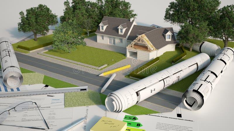 Architektur- und Landschaftsmusterprojekt vektor abbildung