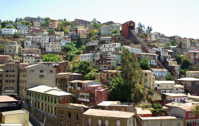 Architektur in Valparaiso, Chile lizenzfreie stockfotografie