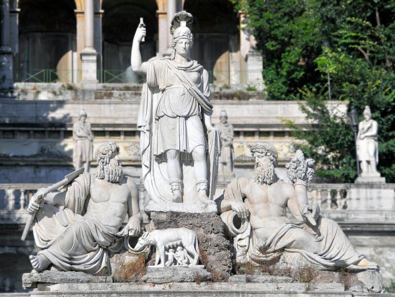 Architektur von altem Rom stockfotografie