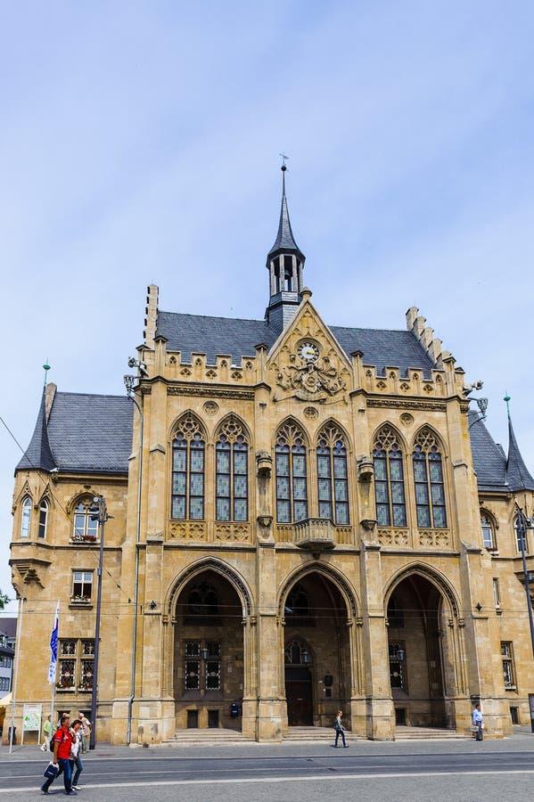 Architektur von Erfurt, Deutschland lizenzfreie stockfotos