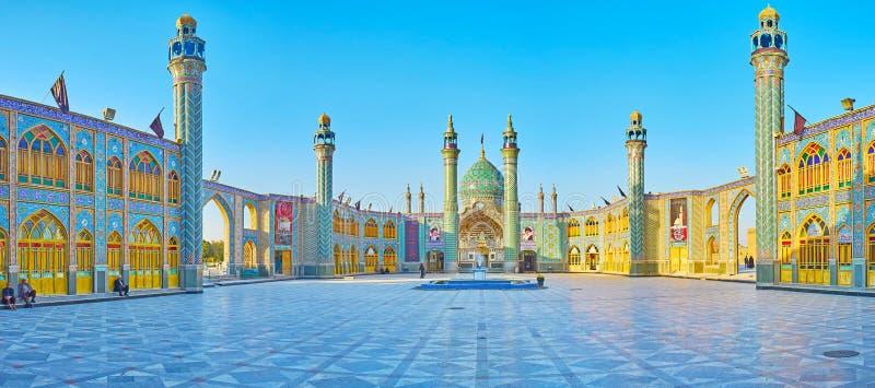 Architektur von Imamzadeh Helal Ali Holy Shrine, Aran O Bidgol, der Iran lizenzfreies stockbild